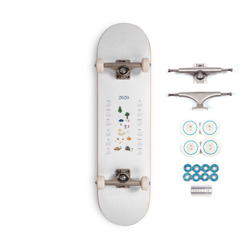 Seasons through the Year - 2020 Calendar Accessories Complete - Basic Skateboard by Svaeth's Artist Shop