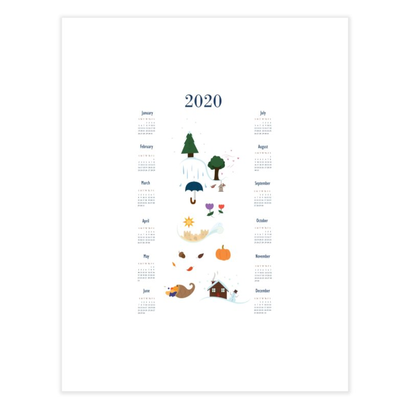 Seasons through the Year - 2020 Calendar Home Fine Art Print by Svaeth's Artist Shop