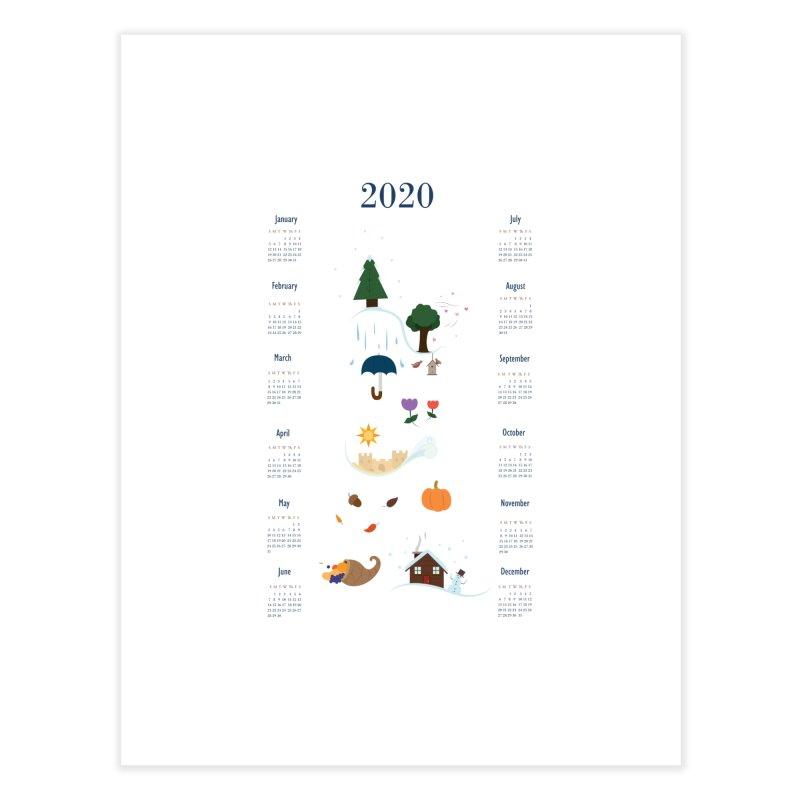 Seasons through the Year - 2020 Calendar Home Fine Art Print by Svaeth's Artist Shop