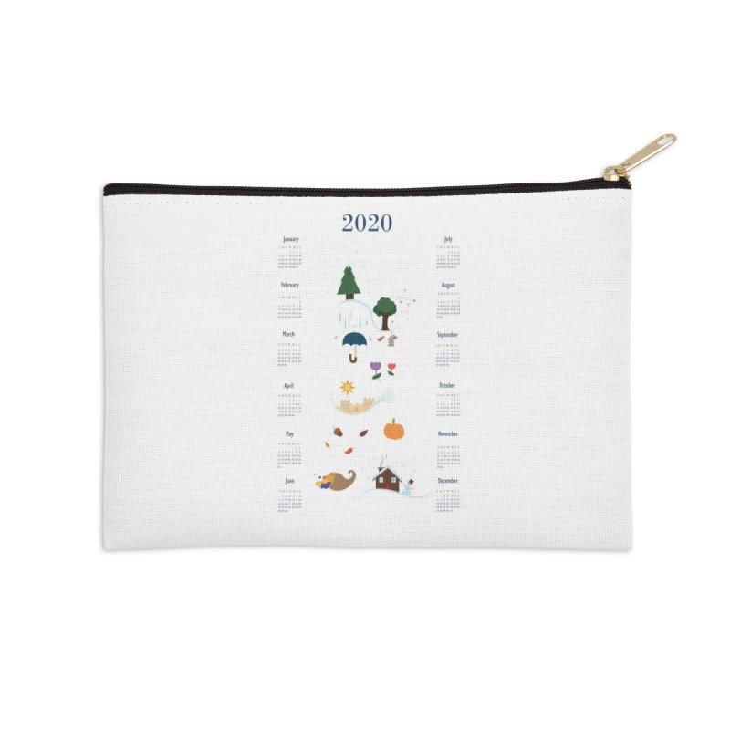 Seasons through the Year - 2020 Calendar Accessories Zip Pouch by Svaeth's Artist Shop