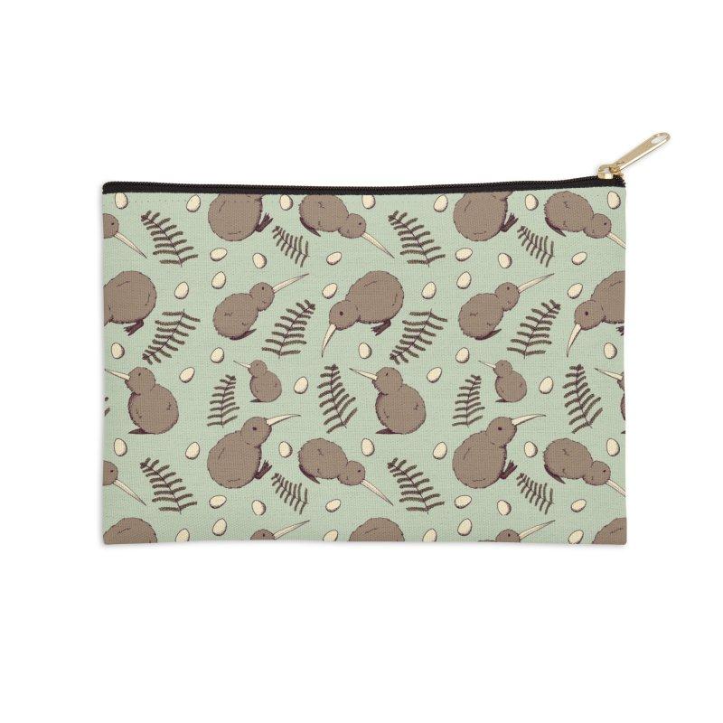 Kiwi Bird Accessories Zip Pouch by Svaeth's Artist Shop