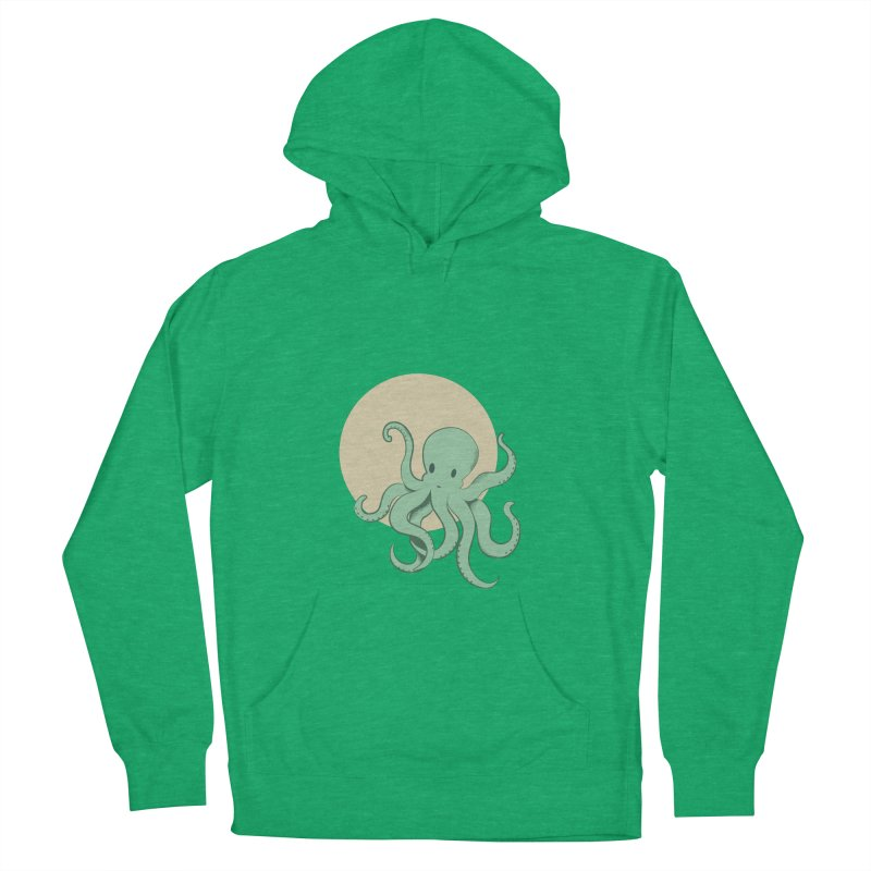 Octopus Women's French Terry Pullover Hoody by Svaeth's Artist Shop