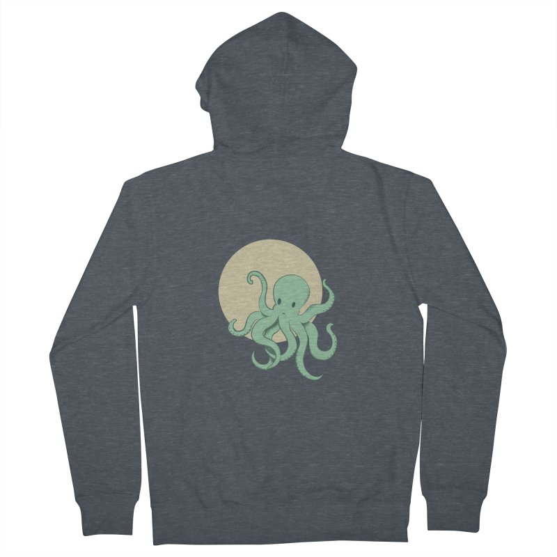 Octopus Men's French Terry Zip-Up Hoody by Svaeth's Artist Shop