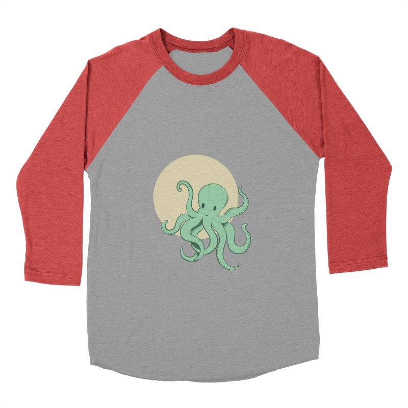 Octopus Men's Baseball Triblend Longsleeve T-Shirt by Svaeth's Artist Shop
