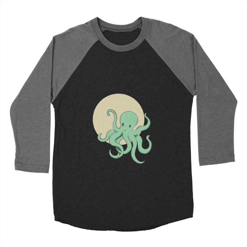 Octopus Men's Baseball Triblend T-Shirt by Svaeth's Artist Shop