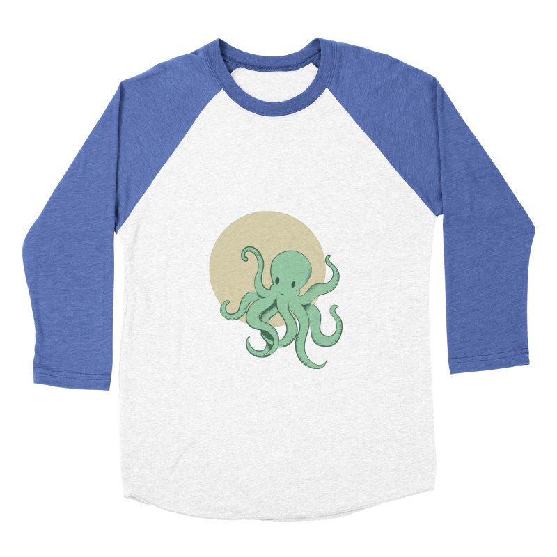 Octopus Men's Baseball Triblend Longsleeve T-Shirt by Svaeth's Artist Shop