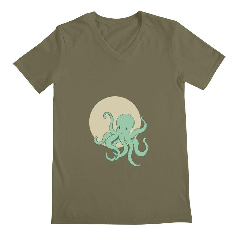 Octopus Men's Regular V-Neck by Svaeth's Artist Shop