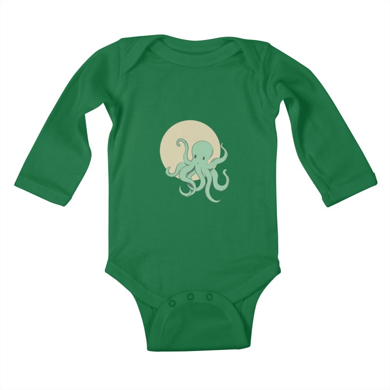 Octopus Kids Baby Longsleeve Bodysuit by Svaeth's Artist Shop