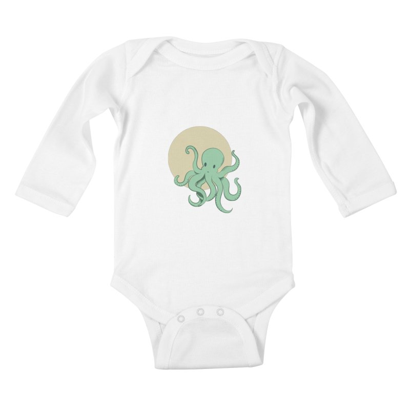 Octopus Kids Baby Longsleeve Bodysuit by Svaeth's Artist Shop