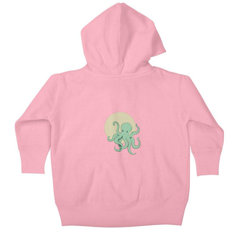 Octopus Kids Baby Zip-Up Hoody by Svaeth's Artist Shop