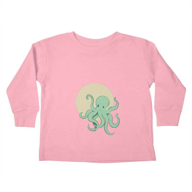 Octopus Kids Toddler Longsleeve T-Shirt by Svaeth's Artist Shop