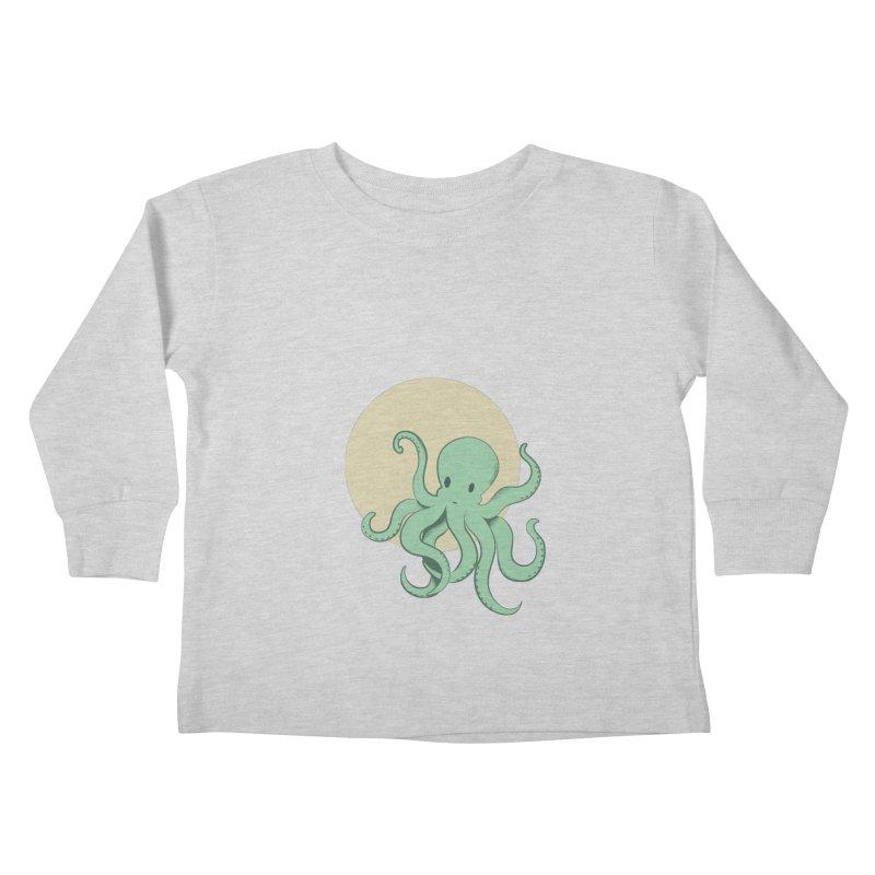 Octopus Kids Toddler Longsleeve T-Shirt by Svaeth's Artist Shop