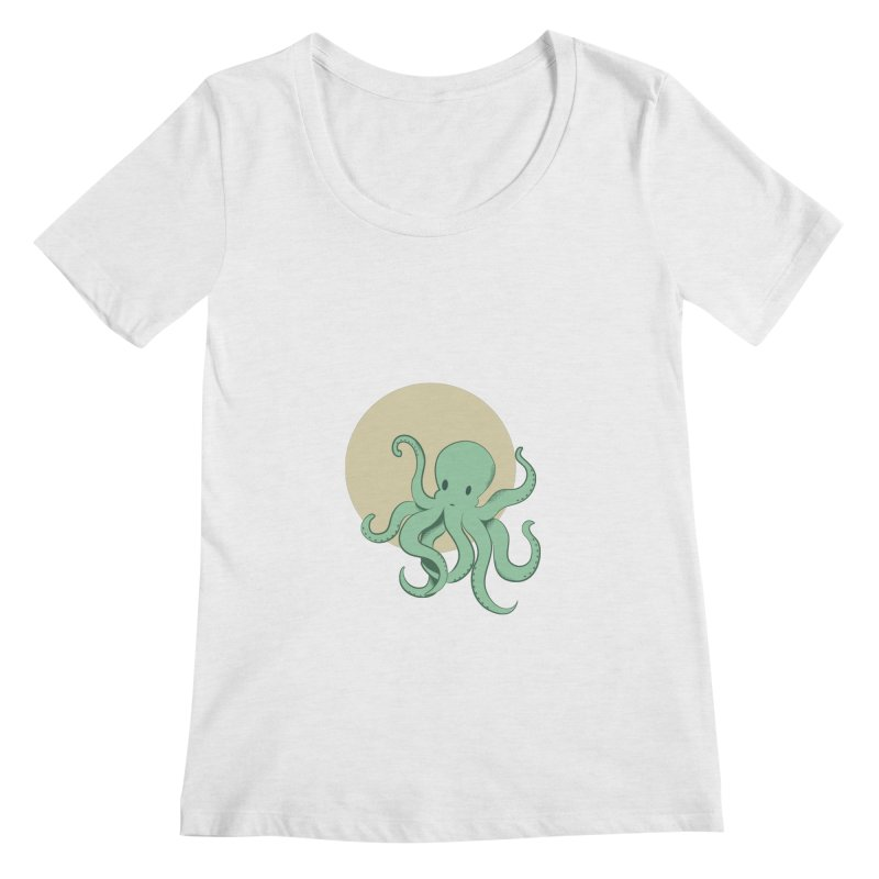 Octopus Women's Scoop Neck by Svaeth's Artist Shop