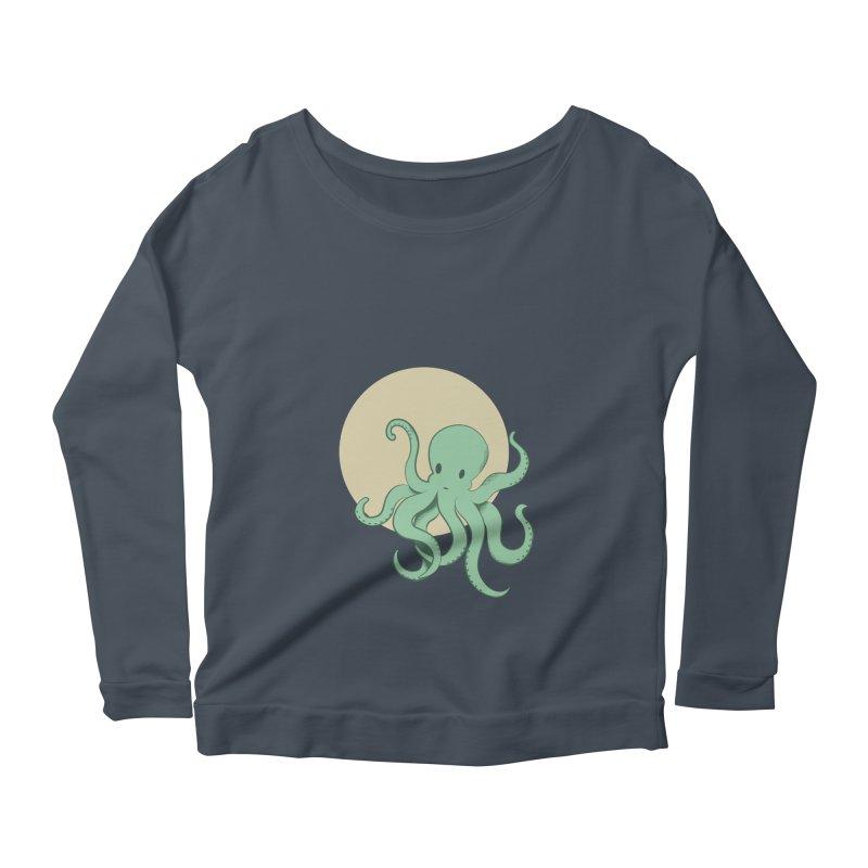 Octopus Women's Longsleeve Scoopneck  by Svaeth's Artist Shop