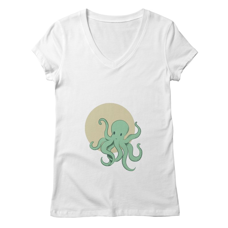 Octopus Women's V-Neck by Svaeth's Artist Shop