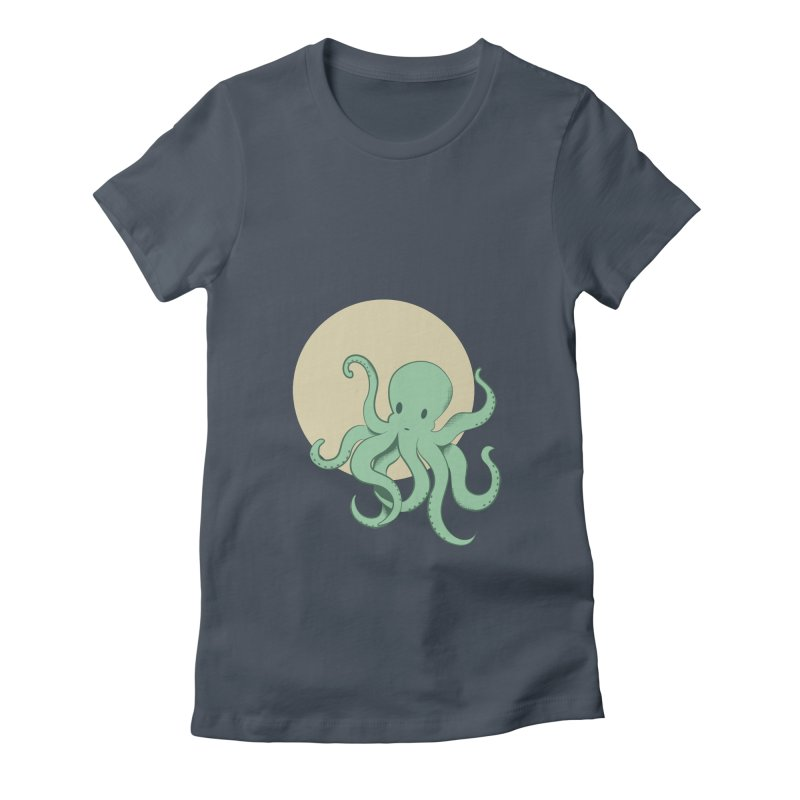 Octopus Women's Fitted T-Shirt by Svaeth's Artist Shop