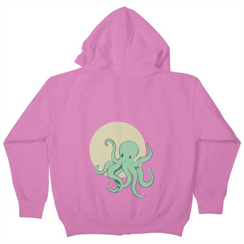 Octopus Kids Zip-Up Hoody by Svaeth's Artist Shop