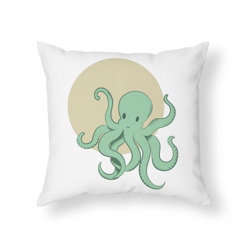 Octopus Home Throw Pillow by Svaeth's Artist Shop
