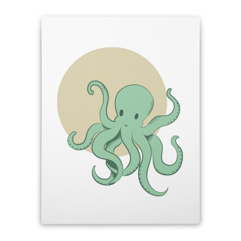 Octopus Home Stretched Canvas by Svaeth's Artist Shop