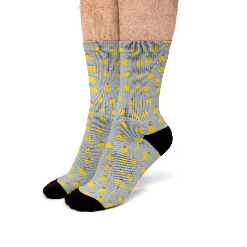 Party Ducks Men's Socks by Svaeth's Artist Shop
