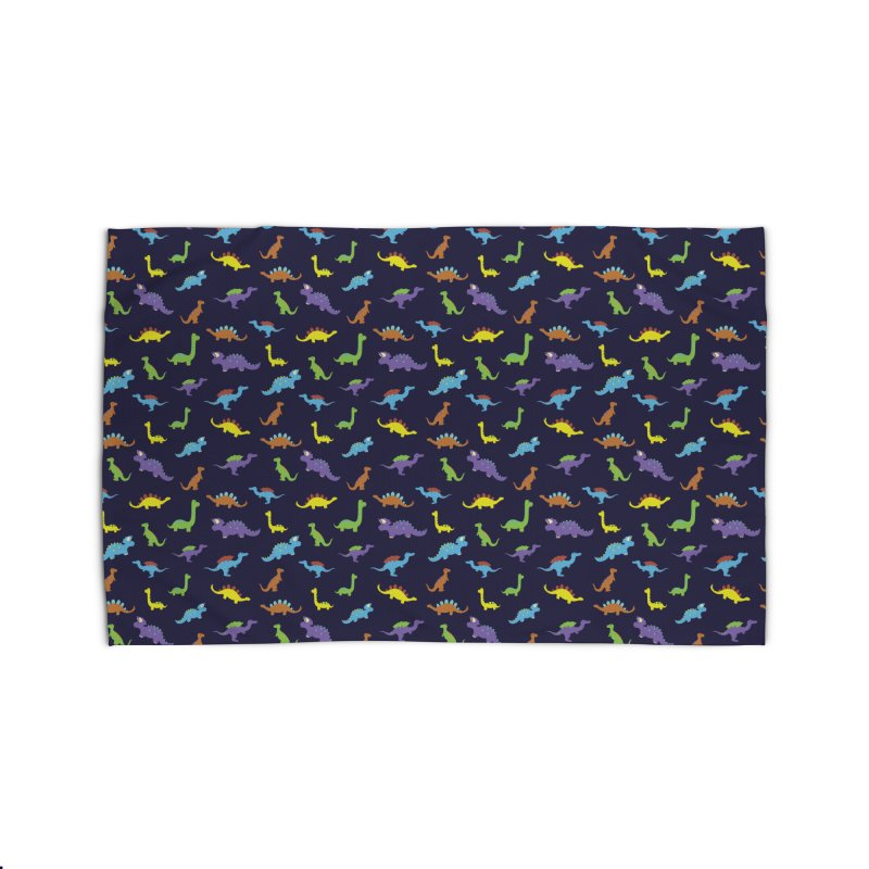 Playful Dinosaurs Home Rug by Svaeth's Artist Shop