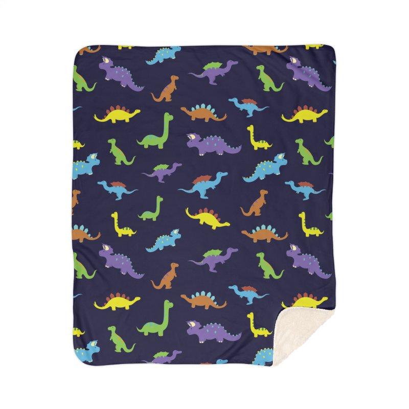 Playful Dinosaurs Home Blanket by Svaeth's Artist Shop