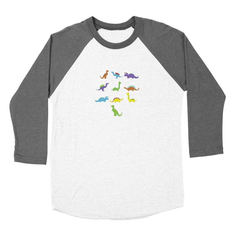 Playful Dinosaurs Women's Longsleeve T-Shirt by Svaeth's Artist Shop
