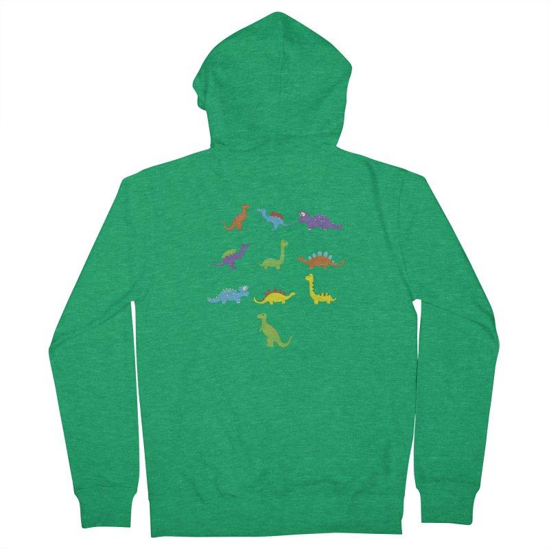Playful Dinosaurs Men's Zip-Up Hoody by Svaeth's Artist Shop