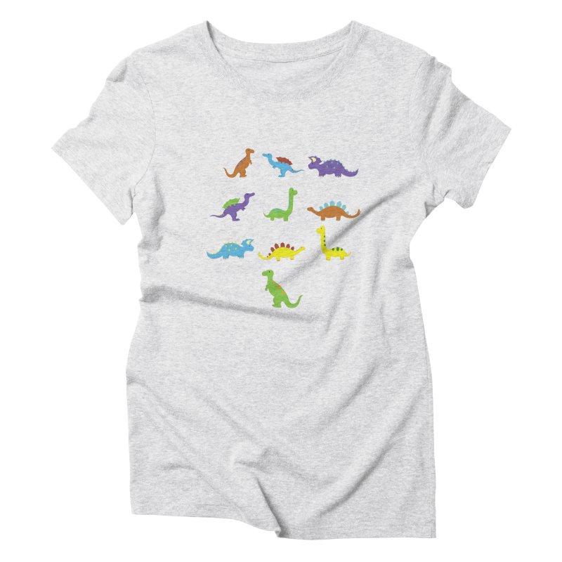 Playful Dinosaurs Women's T-Shirt by Svaeth's Artist Shop