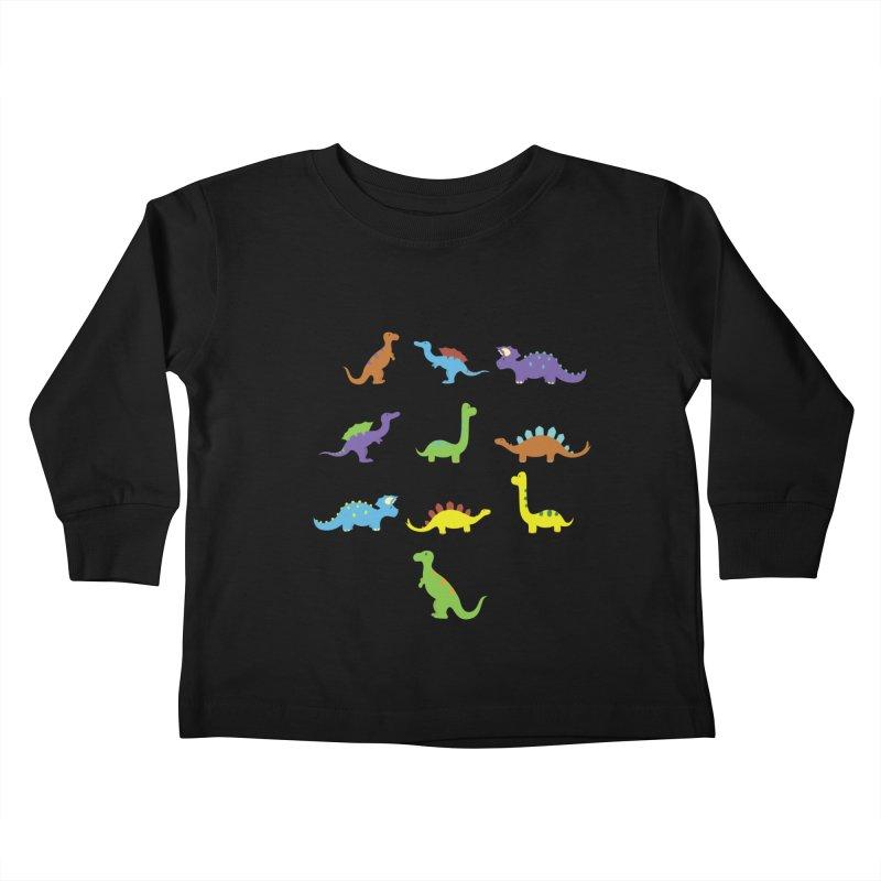 Playful Dinosaurs Kids Toddler Longsleeve T-Shirt by Svaeth's Artist Shop