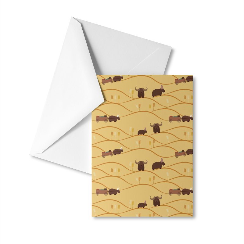 Year of the Ox Accessories Greeting Card by Svaeth's Artist Shop