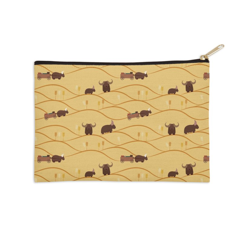 Year of the Ox Accessories Zip Pouch by Svaeth's Artist Shop