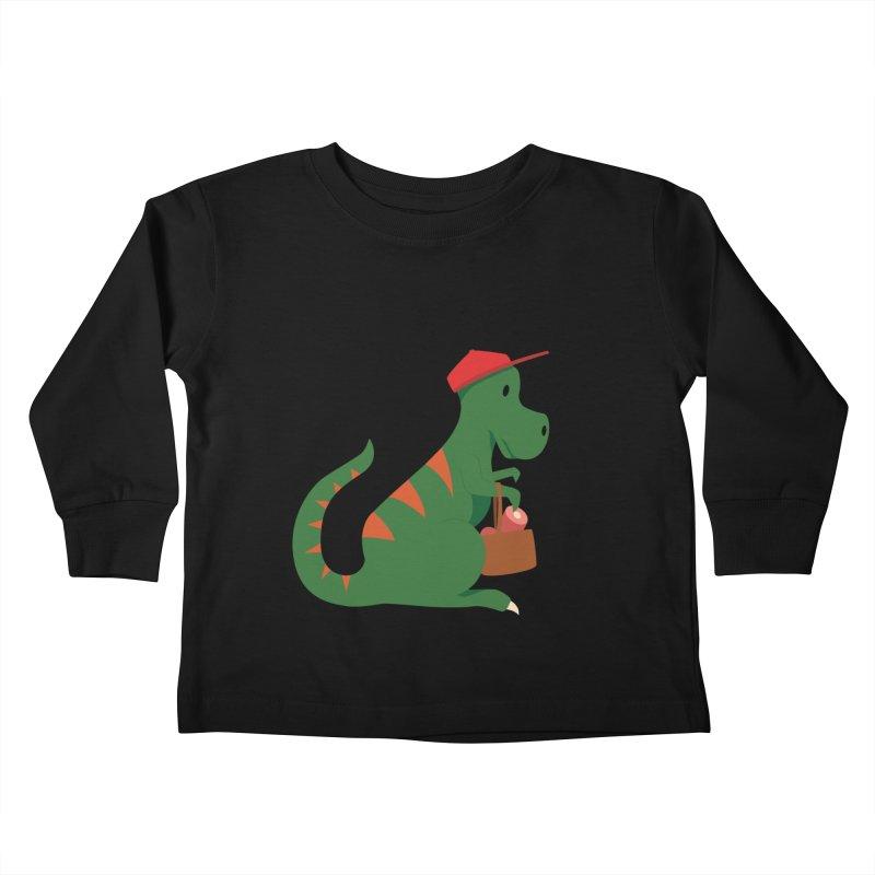 Shopping T. Rex Kids Toddler Longsleeve T-Shirt by Svaeth's Artist Shop