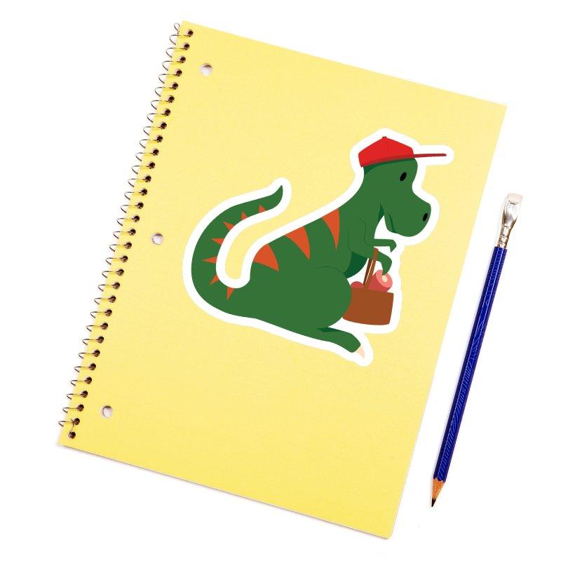 Shopping T. Rex Accessories Sticker by Svaeth's Artist Shop
