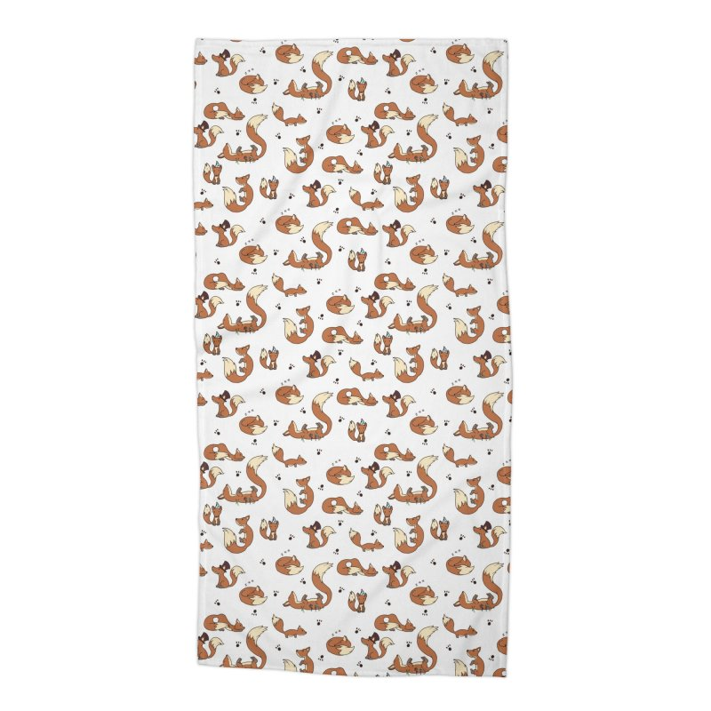 Little Foxes Accessories Beach Towel by Svaeth's Artist Shop