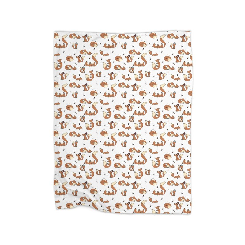 Little Foxes Home Blanket by Svaeth's Artist Shop