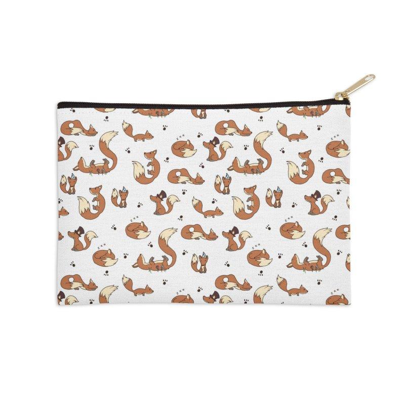 Little Foxes Accessories Zip Pouch by Svaeth's Artist Shop