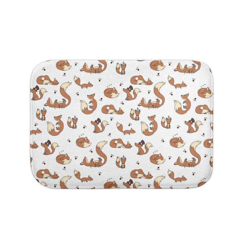 Little Foxes Home Bath Mat by Svaeth's Artist Shop