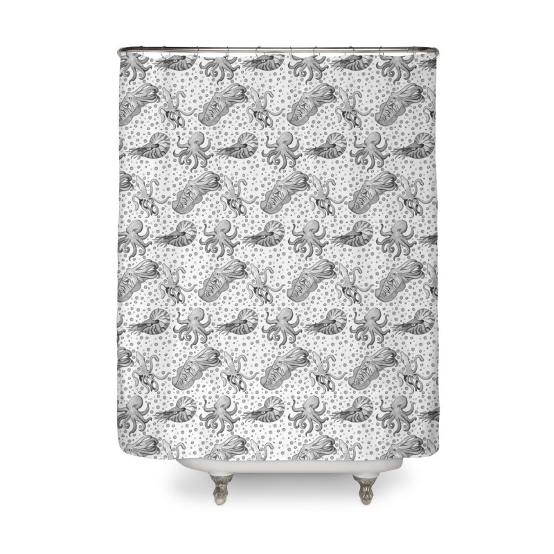 Cephalopods Home Shower Curtain by Svaeth's Artist Shop