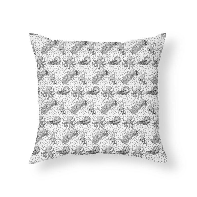 Cephalopods Home Throw Pillow by Svaeth's Artist Shop