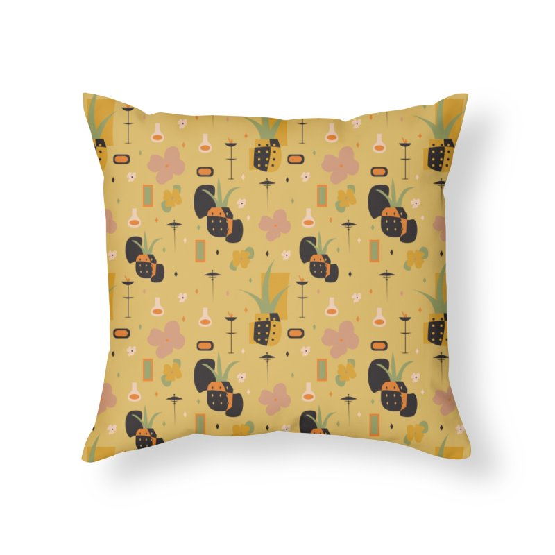 Mod Pineapples Home Throw Pillow by Svaeth's Artist Shop