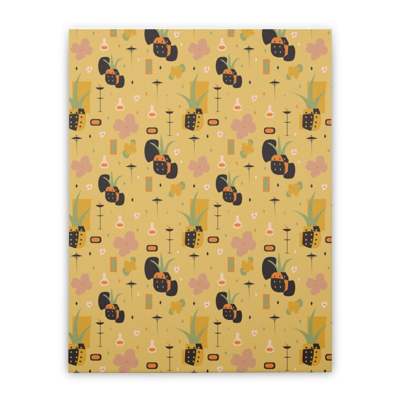 Mod Pineapples Home Stretched Canvas by Svaeth's Artist Shop