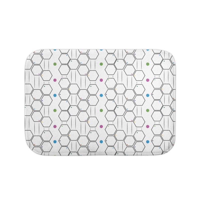Hexagons Home Bath Mat by Svaeth's Artist Shop