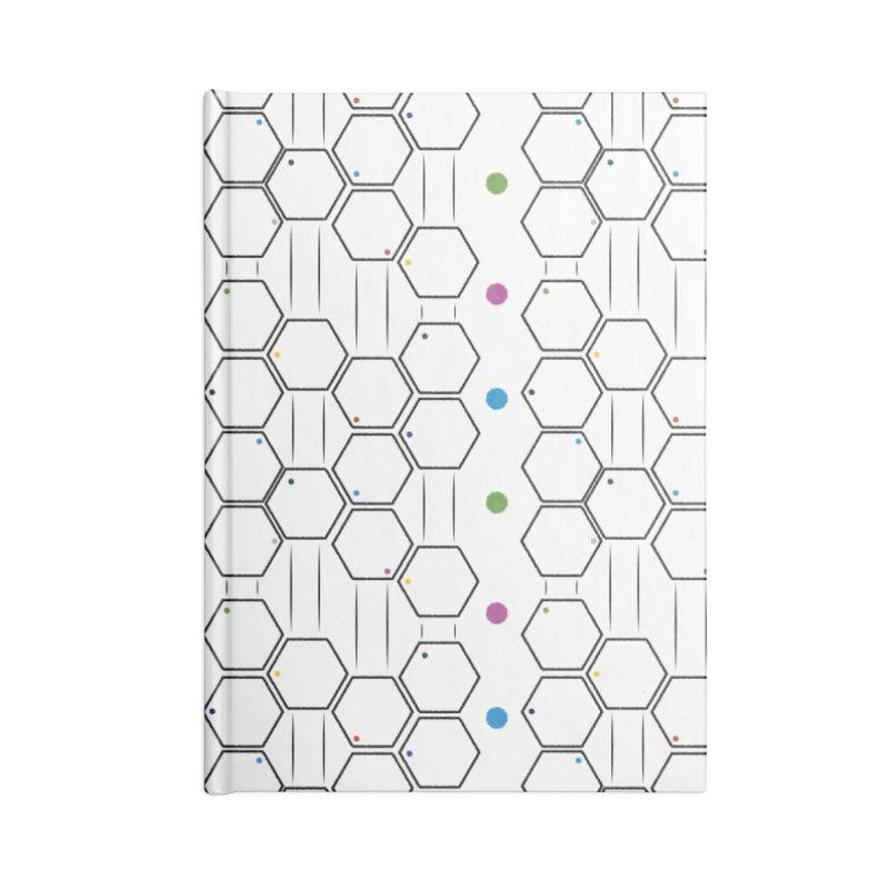Hexagons Accessories Notebook by Svaeth's Artist Shop