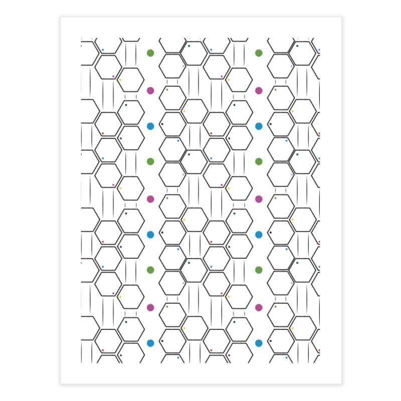 Hexagons Home Fine Art Print by Svaeth's Artist Shop