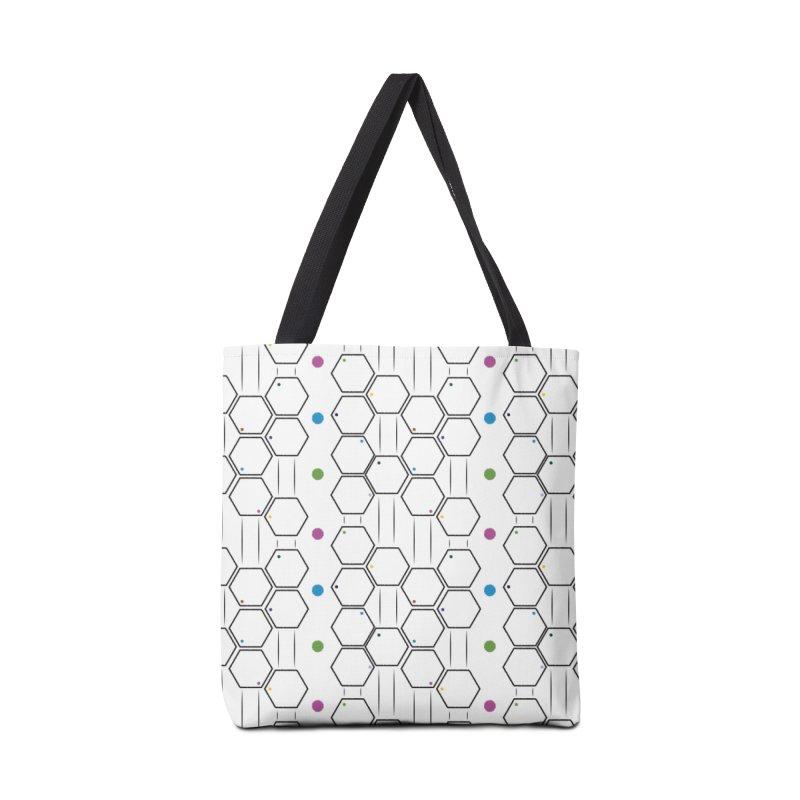 Hexagons Accessories Bag by Svaeth's Artist Shop