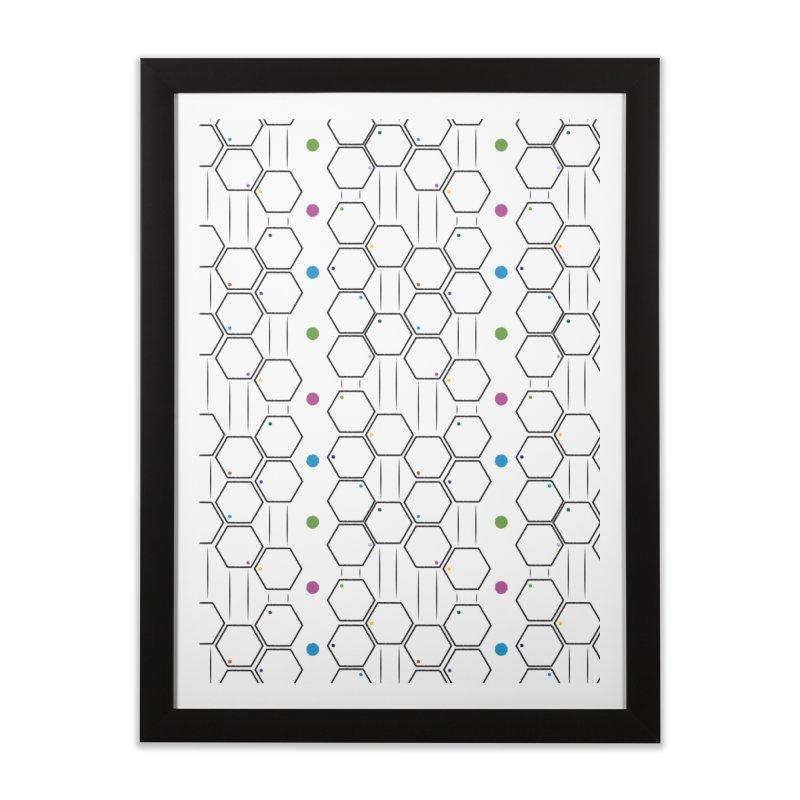 Hexagons Home Framed Fine Art Print by Svaeth's Artist Shop