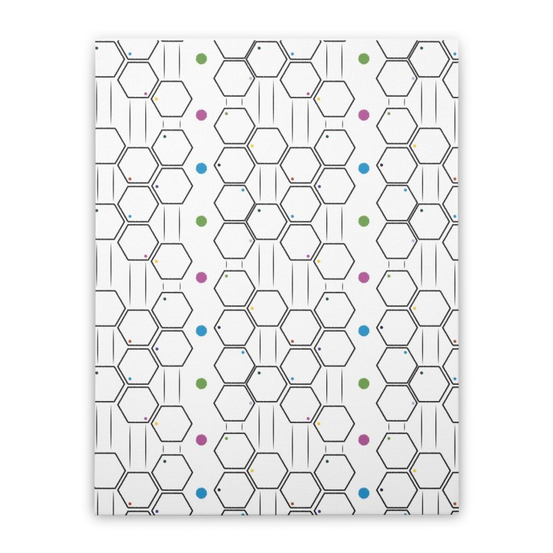 Hexagons Home Stretched Canvas by Svaeth's Artist Shop