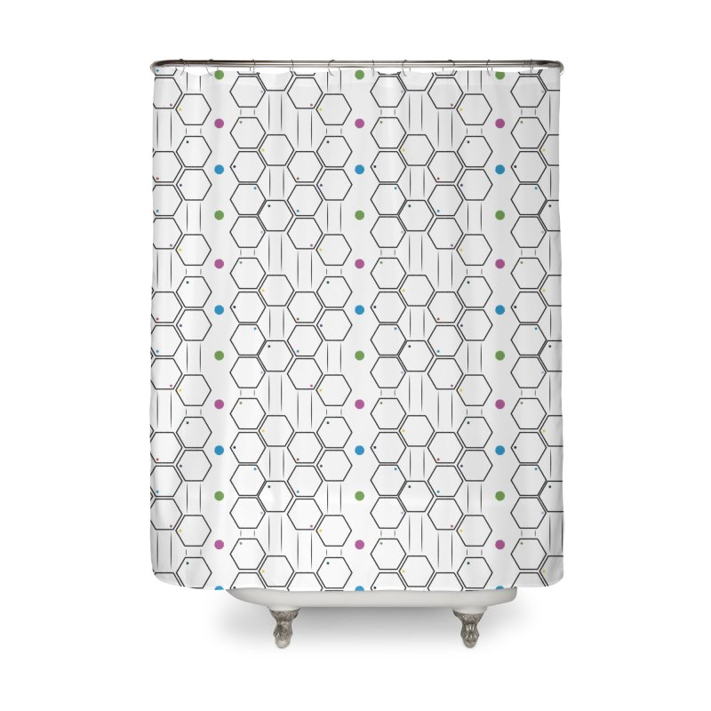 Hexagons Home Shower Curtain by Svaeth's Artist Shop