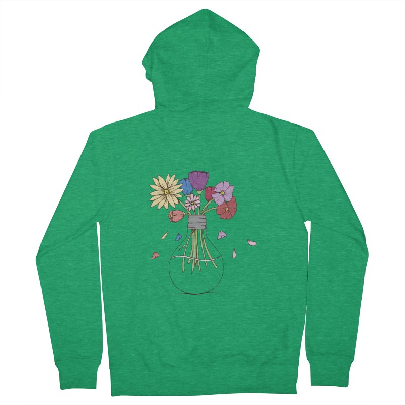 Cut Flowers Men's Zip-Up Hoody by Svaeth's Artist Shop